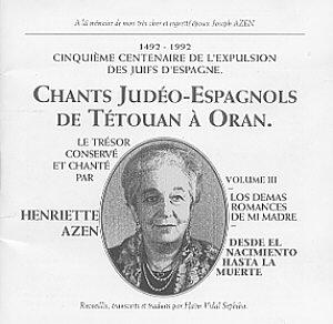 Henriette Azen - Chants Judeo-Espagnols