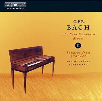 C P E BACH. Oeuvre pour Clavier (Vol XI)