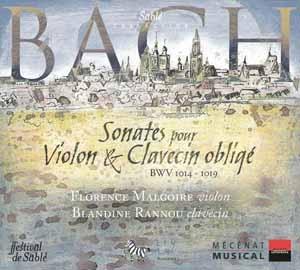 J.S Bach: Sonates pour violon et clavecin obligé!