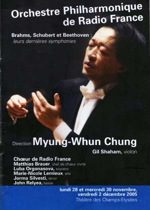 Dernières symphonies de Schubert