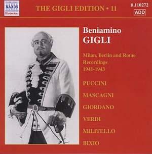 Intégrale Beniamino Gigli, volume 11