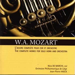 Intégrale de l'œuvre pour cor et orchestre de Mozart
