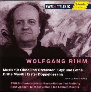 Oeuvres pour orchestre et solistes de Wolfgang Rihm