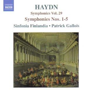 Haydn: les cinq premières