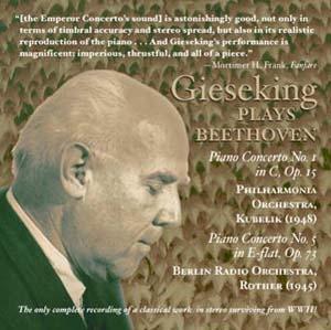 Walter Gieseking en stéréophonie de 1945!