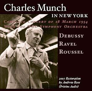 Charles Münch à la tête de l'orchestre de Toscanini