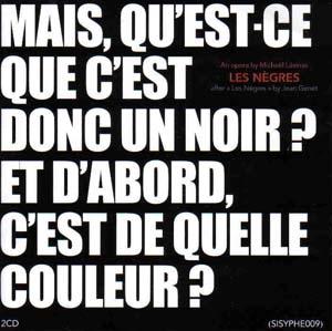 Michaël Lévinas et Jean Genet: tragicomédie en noir et blanc