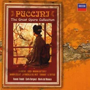 Mario del Monaco, Renata Tebaldi et les autres chez Puccini