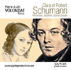 Clara et Robert Schumann au piano