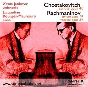 Chostakovitch et Rachmaninov pour piano et violoncelle…