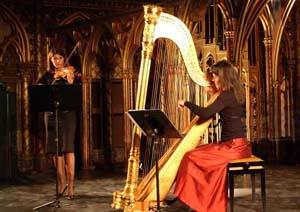 Violon et harpe