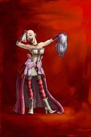 Une Cantatrice scalpée