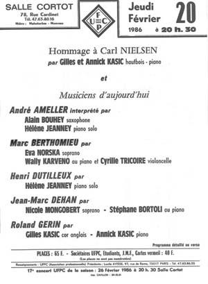 IX - Deux Fantaisies pour hautbois et piano