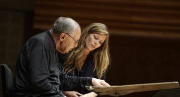 Pierre Boulez et Barbara Hannigan en répétition © Franca Pedrazzetti