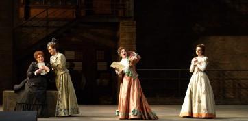 5927_-ND39996 Marie-Nicole Lemieux (Mrs Quickly), Gaëlle Arquez (Mrs Meg Page), Svetla Vassileva (Mrs Alice Ford) et Elena Tsallagova (Nannetta) Opéra nat