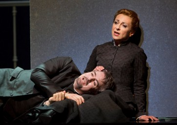 The Tales of Hoffmann Natalie Dessay (Antonia) and Christian Van Horn (Coppelius). ©Cory Weaver/San Francisco Opera.