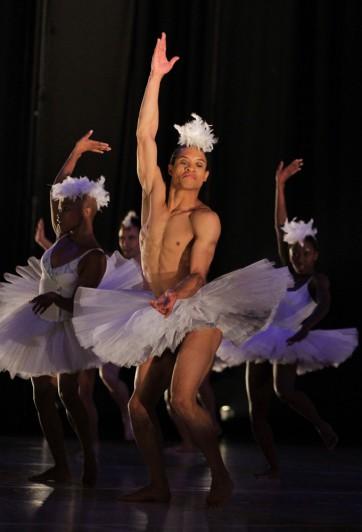Dance Umbrella2 @ Arts Alive 2012. Johannesburg. Prog 6. The Dance Factory, Newtown, Johannesburg. 'Swan lake' by Dada Masilo. Photograph:John Hogg