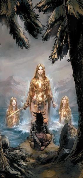 Alberich et les filles du Rhin  Le Crépuscule des dieux, T0 - La malédiction de l'anneau Gwendal Lemercier © Editions Soleil