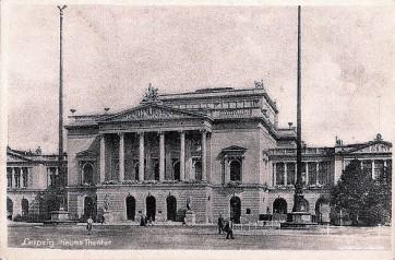 Leipzig - Nouveau théâtre (inauguré en 1868, détruit en 1943)