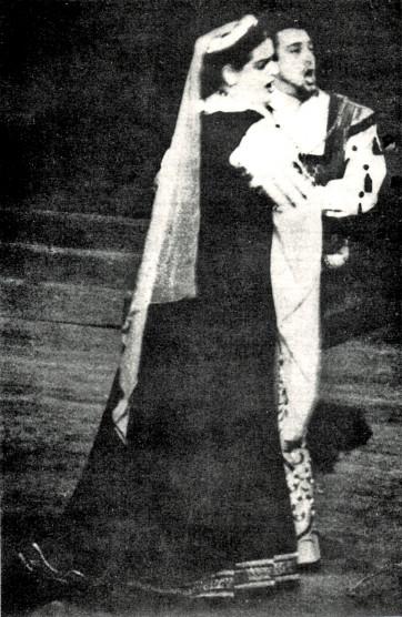 Anita Cerquetti et Mario del Monaco dans Ernani