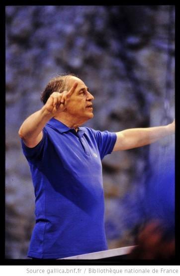 Boulez répétition Répons Aix 1988 Gallica