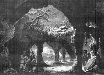 Beniowsky ou les Exilés de Kamtchatka, décor de l'acte I. Gravure de Lith de Engelmann d'après Julien-Michel Gué (1824). Bibliothèque nationale de France, Musée de l'Opéra.