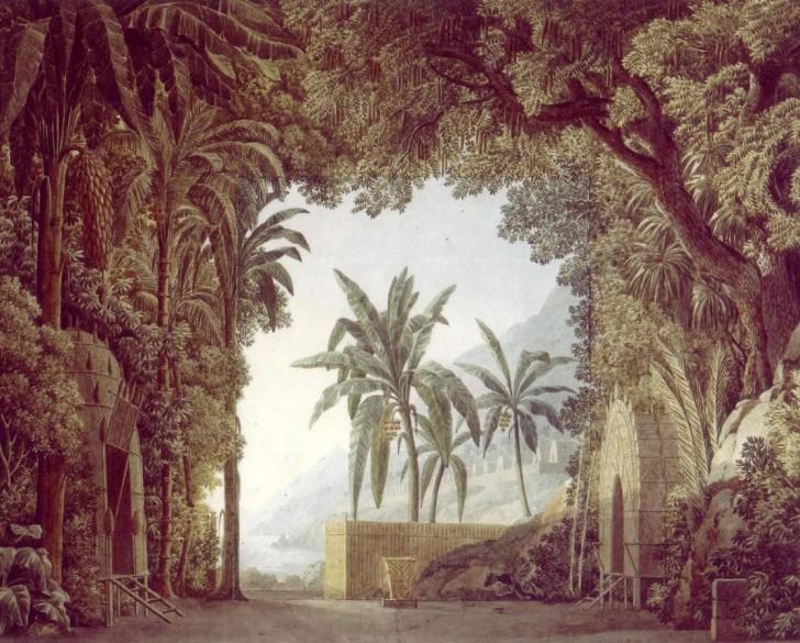 Richard Cœur de Lion, scène 7 de l'acte I. Gravure de Claude Bornet (1786). Bibliothèque nationale de France, département Musique.