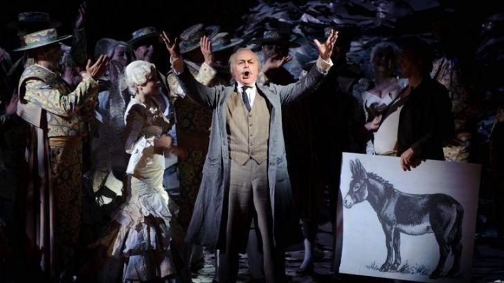Jose van Dam, dans le role de Don Quichotte, au theatre de la Monnaie