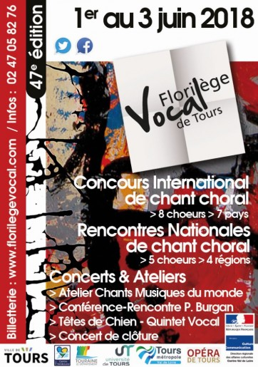 florilège vocal de Tours 2018