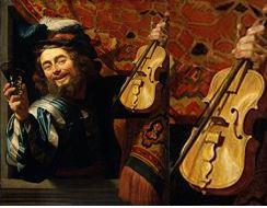 Gerrit van Honthorst, Le joyeux violoniste (1624)