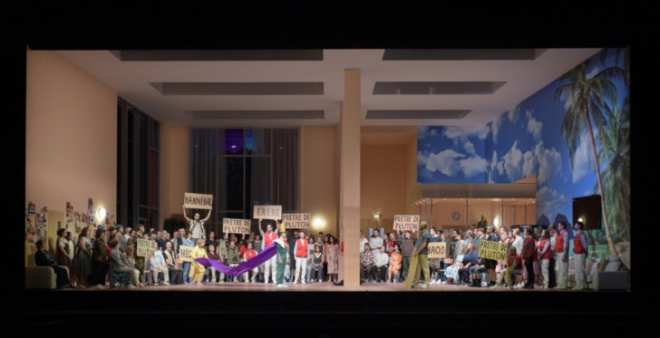LES TROYENS A CARTHAGE - Compositeur : Hector BERLIOZ - Direction musicale : Philippe JORDAN - Mise en scene et scenographie : Dmitri TCHERNIAKOV - Lumieres : Gleb FILSHTINSKY - Costumes : Elena ZAYTSEVA - Avec : Ekaterina SEMENCHUK (Didon) - Aude EXTREMO (Anna) - Michele LOSIER (Ascagne) - Brandon JOVANOVICH (Enee) - Cyrille DUBOIS (Iopas) - Bror MAGNUS TODENES (Hylas) - Christian VAN HORN (Narbal) - Jean Luc BALLESTRA (Capitaine Troyen) - Tomislav LAVOIE (Capitaine Troyen) - Steaphanie d OUSTRAC (Le Fantome de Cassandre) - Stephane DEGOUT (Le Fantome de Chorebe) - Thomas DEAR (Le Fantome d Hector) - Paata BURCHULADZE (Le Fantome de Priam) - Bernard ARRIETA (Mercure) - Le 19 01 2019 - A l Opera Bastille - Photo : Vincent PONTET