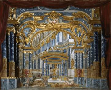 """Projet de décor pour le premier acte de """"Proserpine"""" de Jean-Baptiste Lully"""