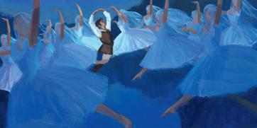 Giselle • Livre conte © Textes: Pierre Corant, Peintures d'Olivier Desvaux