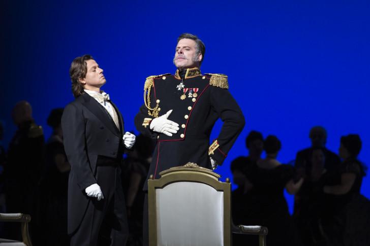 Evgenij Onegin_Markus Werba (Onegin), John Relyea (Gremin)_ph Yasuko Kageyama-Teatro dell'Opera di Roma 2019-20_1131 WEB
