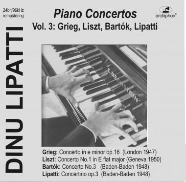 Dinu Lipatti_concertos_Archiphon_vol. 3