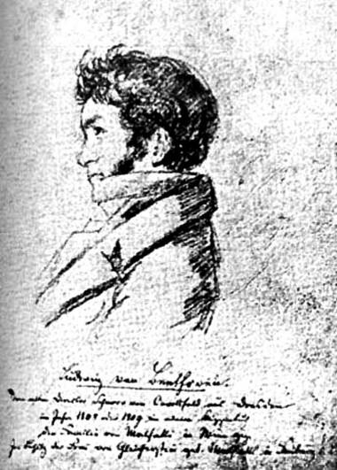 DessinBeethoven_FerdinandSchnorrVonCaroldfeld_1808