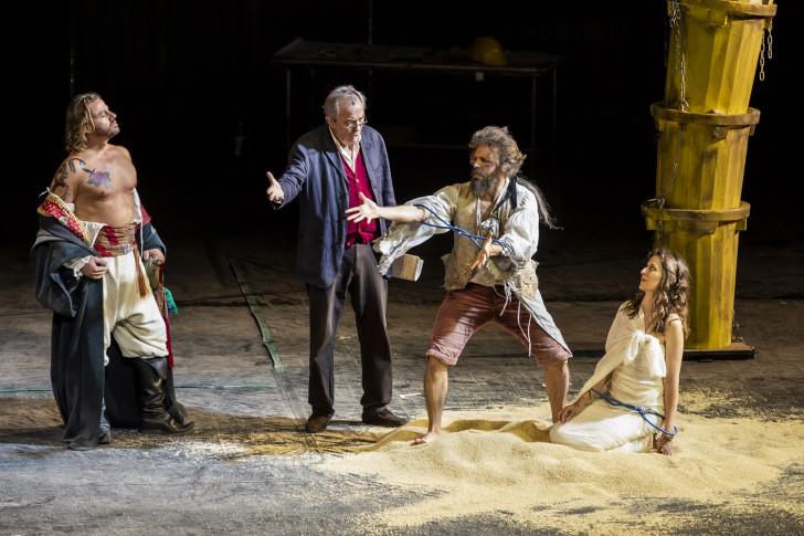 Zaide_Werba (Allazim), Girone, Gatell (Gomatz), Reiss (Zaide)_ph Yasuko Kageyama-Opera di Roma 2020